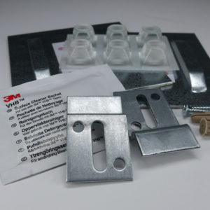 Adhesive Mounting Pack + Wall Supports