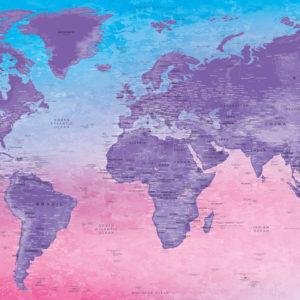Decoration World Map – Fuji