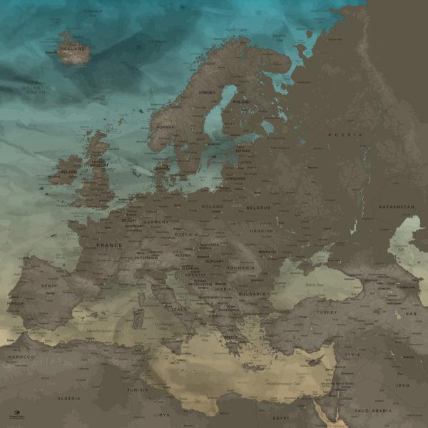 Europe-Map-Board