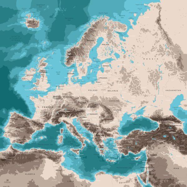 Europe-Map-Design
