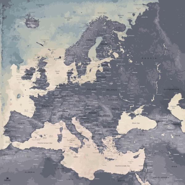 Europe-Map-Moderne