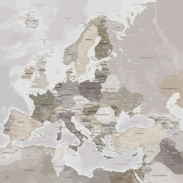 Europe-Map-Poster