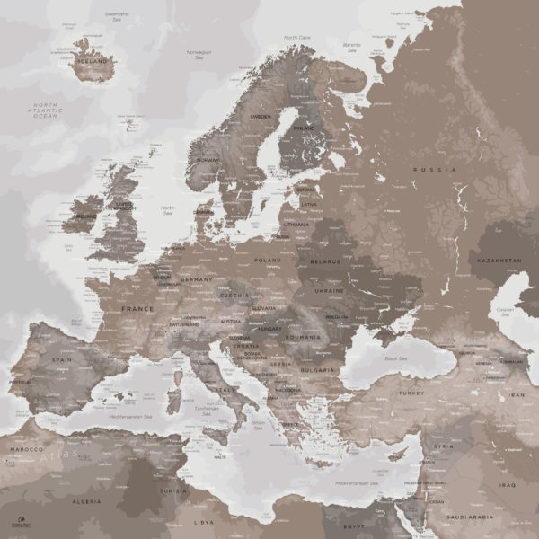 Europe-Map-Wall