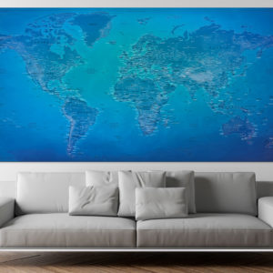 Large Size World Map – Moraine
