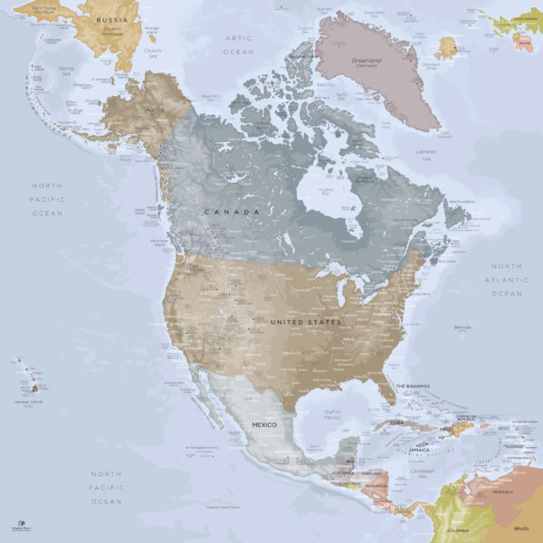 North-America-Continent-Map