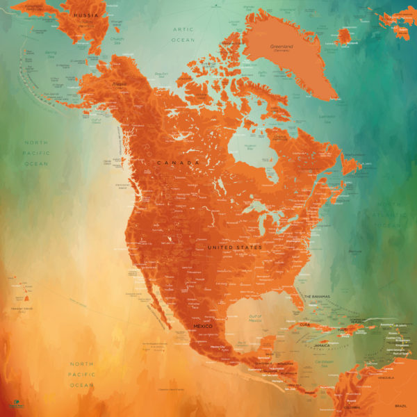 North-America-Map-Beautiful