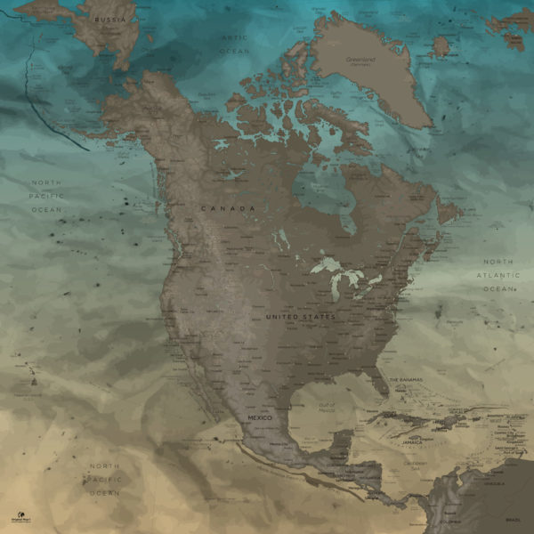 North-America-Map-Board