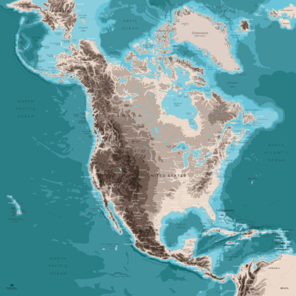 North-America-Map-Design