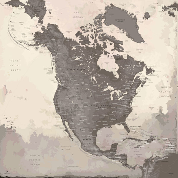 North-America-Map-Large-format
