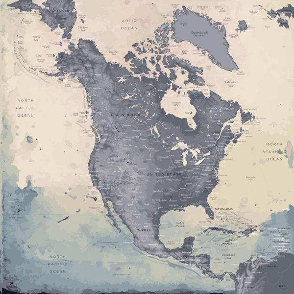 North-America-Map-Moderne