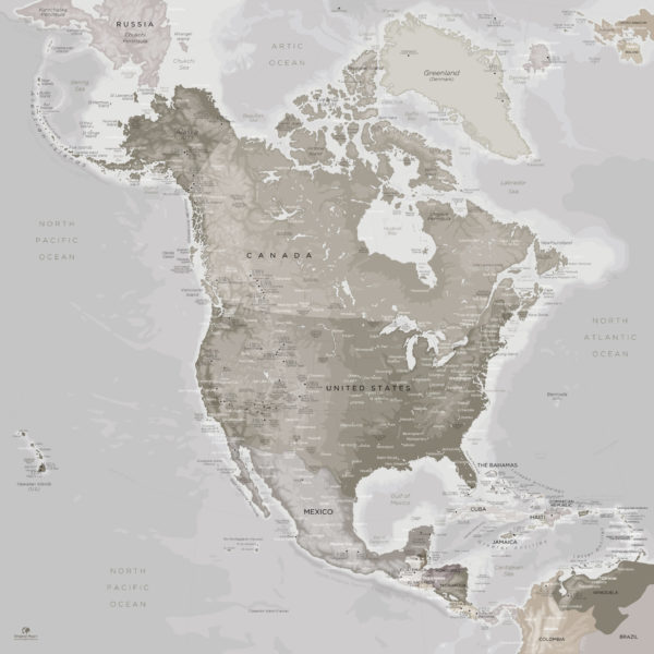 North-America-Map-Poster