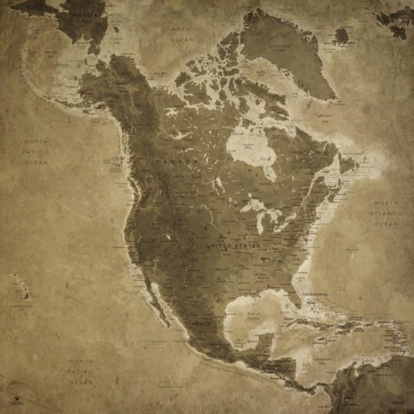 North-America-Map-Relief
