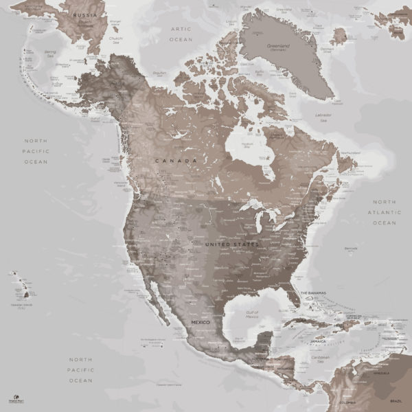 North-America-Map-Wall