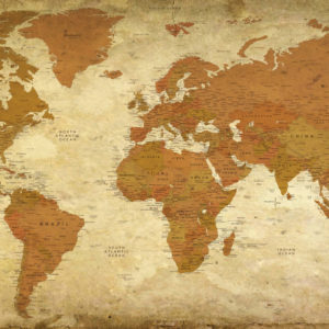 Vintage World Map – Petra