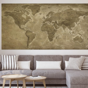 Vintage World Map – Lascaux