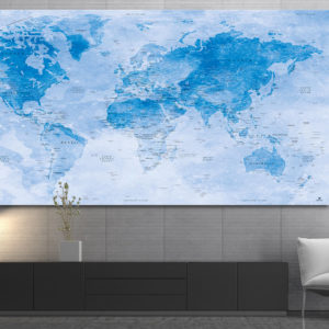 Watercolor World Map – Uyuni