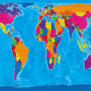 Gall-Peters world map – Manarola