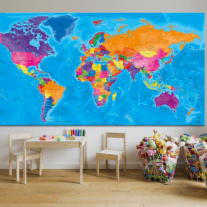 World Map Board – Manarola