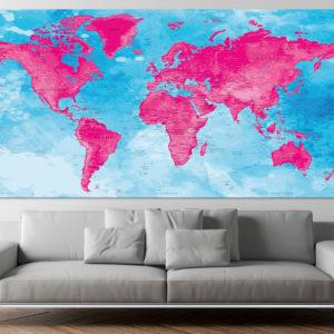 World Map Poster – Darvaza