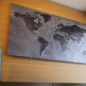 Metallic World Map