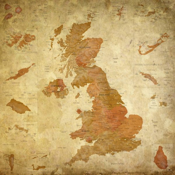 United-Kingdom-Map-Vintage